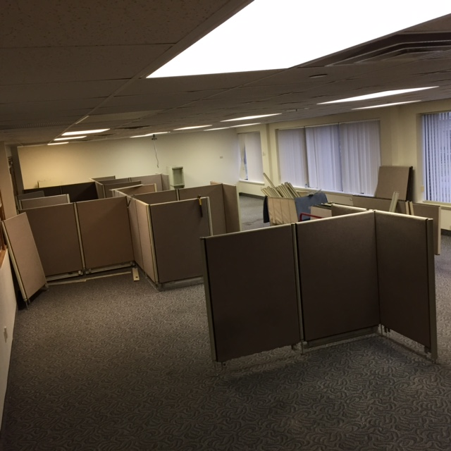 Setting up cubicles