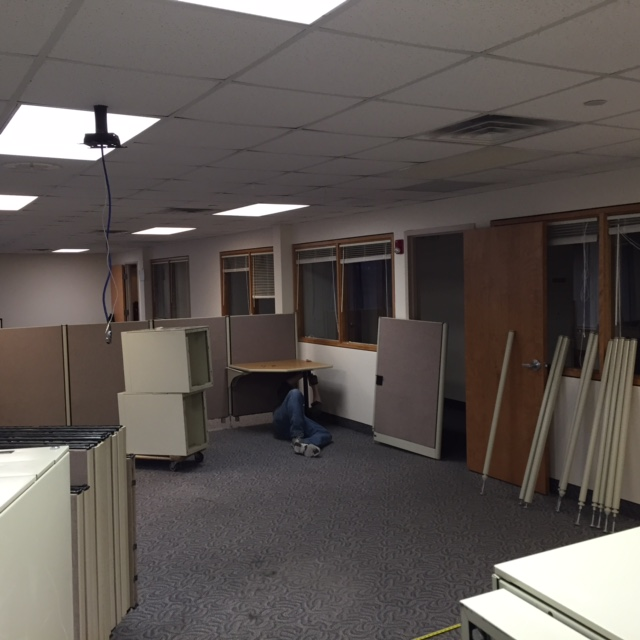 Office cubicle installation